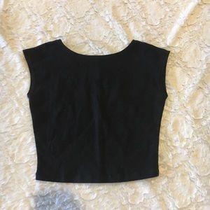 Cap sleeve crop top